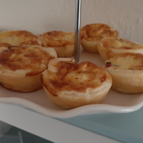Recipe for mini veggie quiche