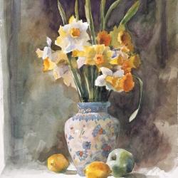 Vase of Daffodils, 60X49 cm