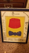 Doctor Who Fez and Bow Tie, Multi-media, framed SOLD