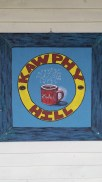 Kawphy Hill House Sign, Acrylic, board, SOLD
