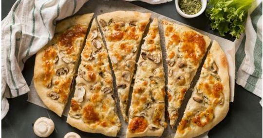 pizza de masa casera - Mares Lingua