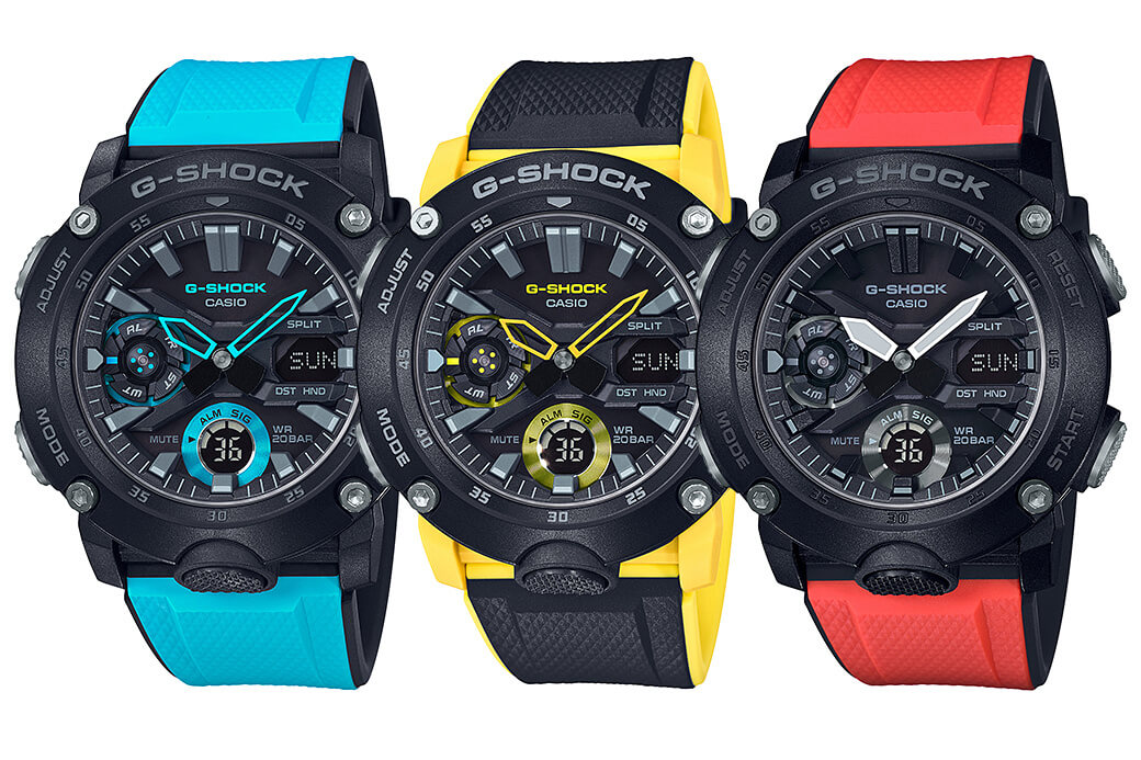 G-Shock GA-2000: elegante analógico-digital con Carbon Core Guard