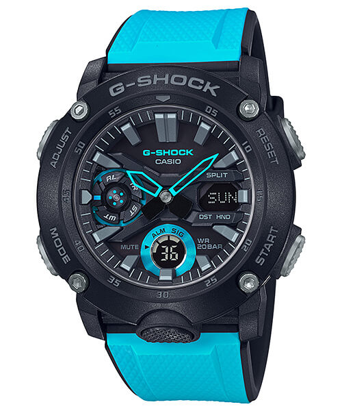 , G-Shock GA-2000: elegante analógico-digital con Carbon Core Guard
