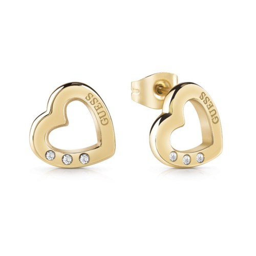 Pendientes Guess Hearted Chain UBE29059