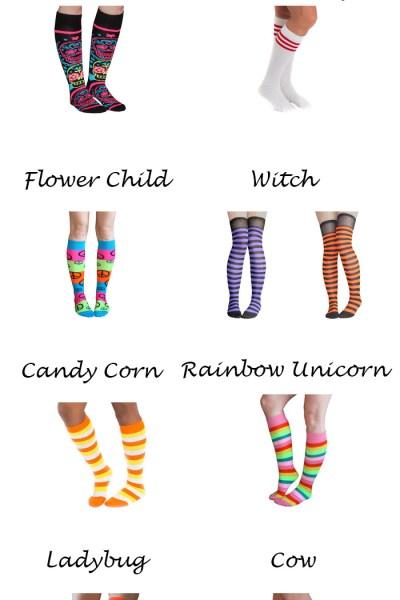 Halloween Thigh-High Socks