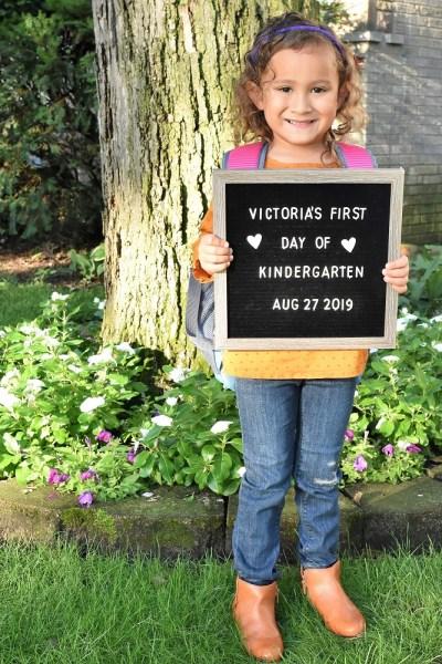 First Day Kindergarten 2019