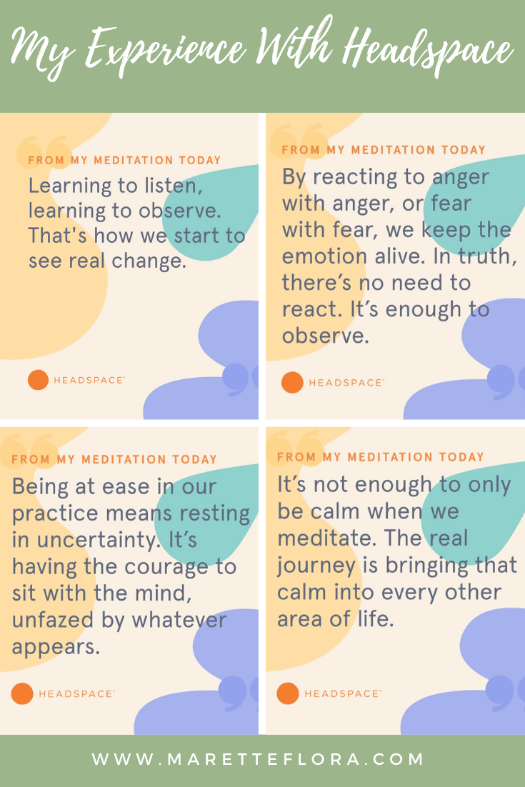 My Experience Meditating With the Headspace App