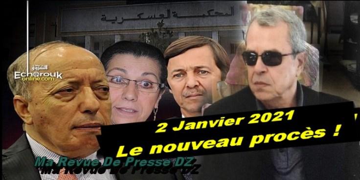 Procès Toufik, Tartag, Hanoune et Saïd Bouteflika