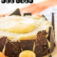 Cracked chocolate egg cake {vegan + gluten-free}