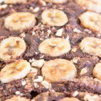 Choc banana loaf bars {vegan + gluten-free}