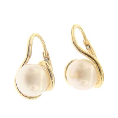 peendientes oro perla comunion