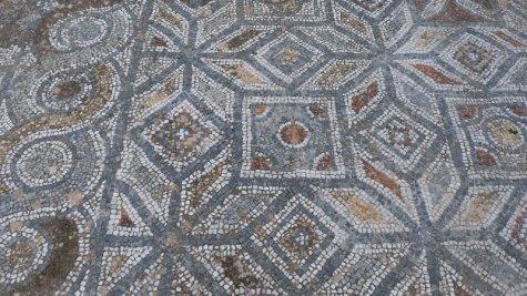 Terraced housing: mosaic floor.