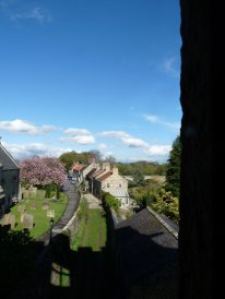 West Tanfield seen from the tower,