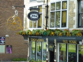 This pub's still preserving memories of the Tour de France in 2014.