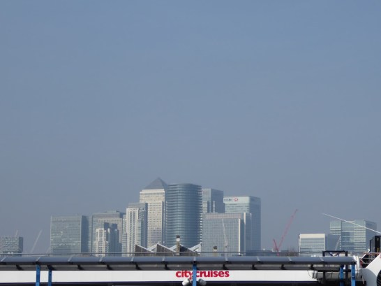 London, as seen from dry land the start of my journey.