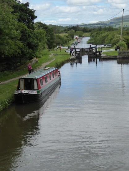 A view of some of the locks.