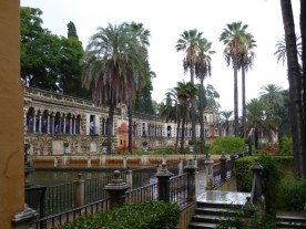 The gardens of Alcazar Palace.