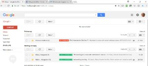 Organised Gmail Inbox