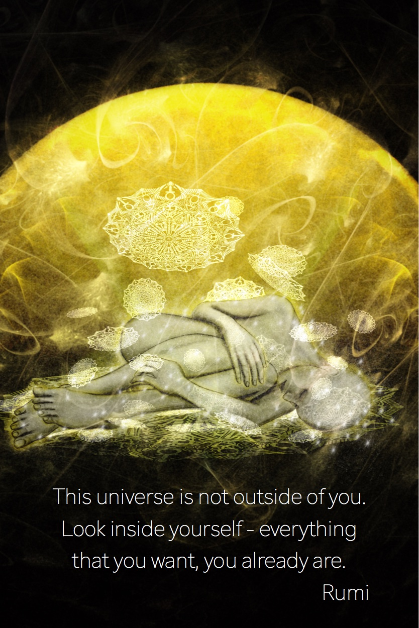 This universe is not outside of you-Spiritual Art by Margaret Dill