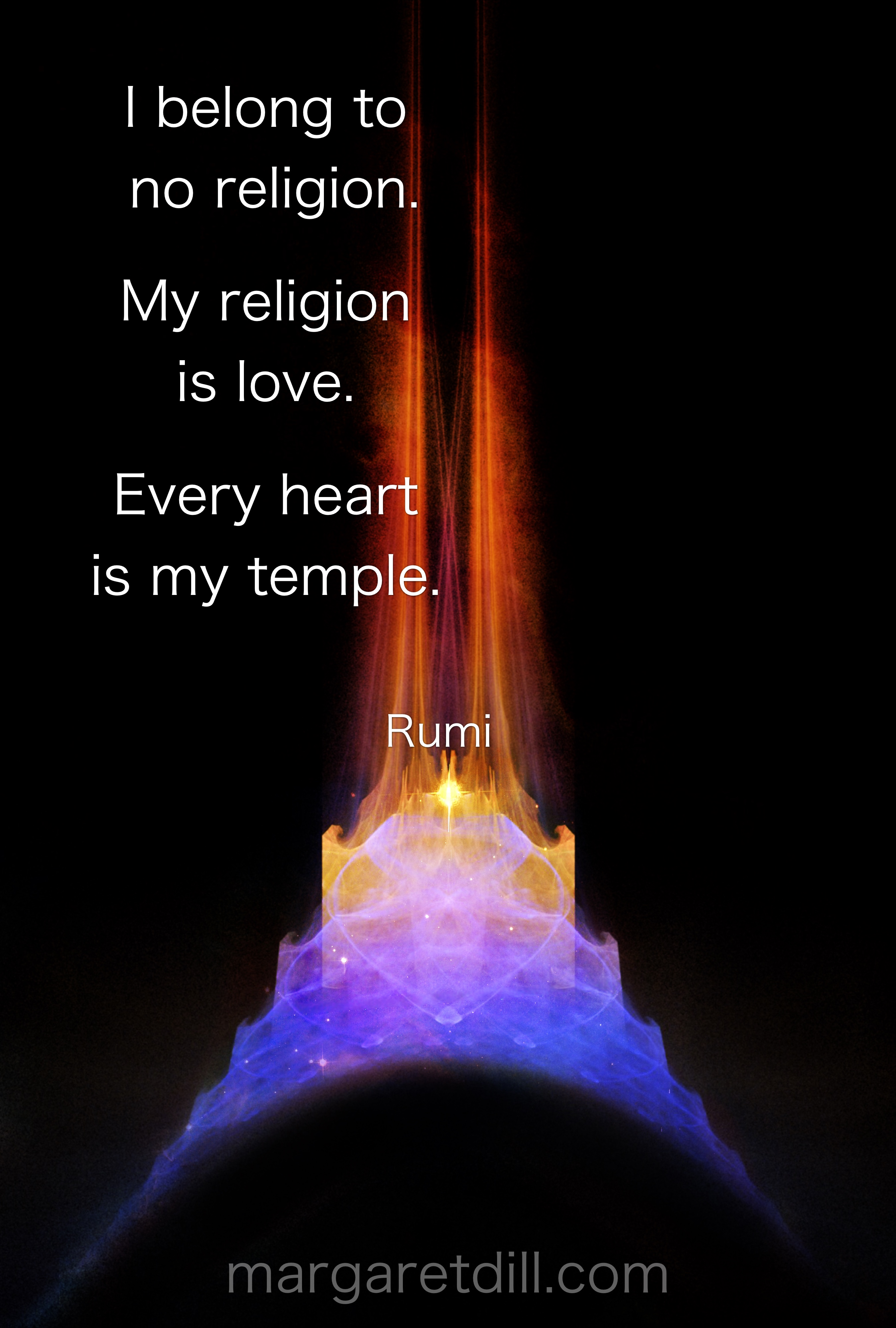 I Belong To No Religion Rumi Quote Margaret Dill Design