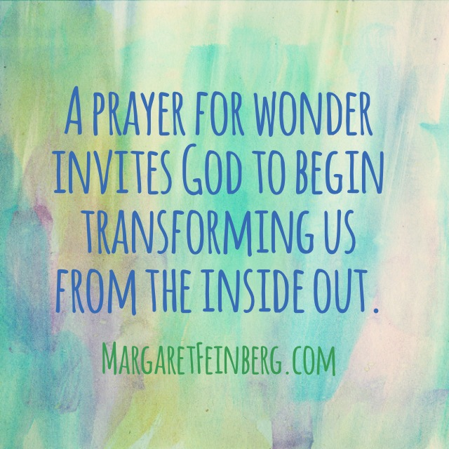 Be Transformed By Just One Prayer (and a Wonderstruck Wednesday Challenge)