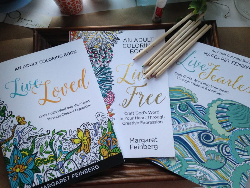 Live Loved Free Fearless Adult Christian Coloring Book Combo Pack With