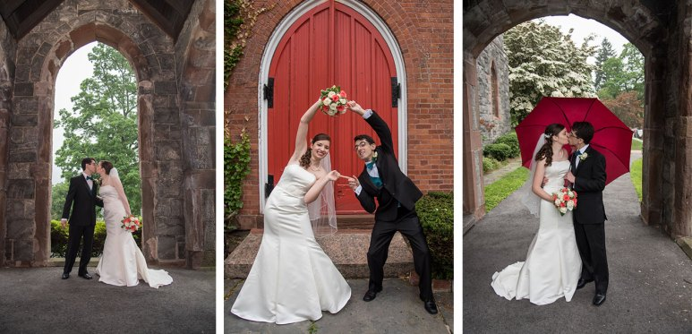 Beautiful wedding photography  at Washington Irving's Christ Church