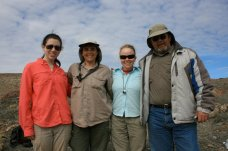 Ashley, Ale, Margaret, and Arturo in Patagonia.