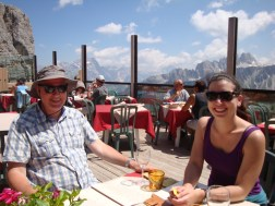 Best lunch spot ever! Piero and Ashley at Refugio Scoiattolo.