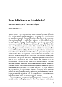 """First page of """"From Julie Doucet to Gabrielle Bell: Feminist Genealogies of Comics Anthologies"""""""