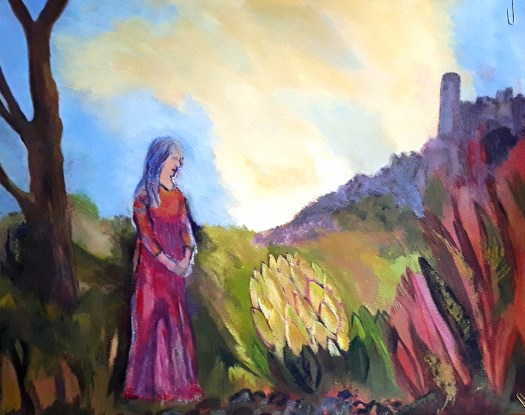 An earlier version of the story picture with a stronger, moodier atmosphere.  New  Beginnings for this young woman.