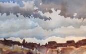 "Storm Coming Watercolor  7.5x11"" $200"