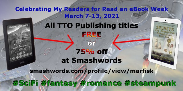 Read an eBook Week (March 7-3, 2021) Sale on Smashwords. 75% to 100% off.