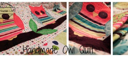Owl Quilt Collage Loving Mountain Life