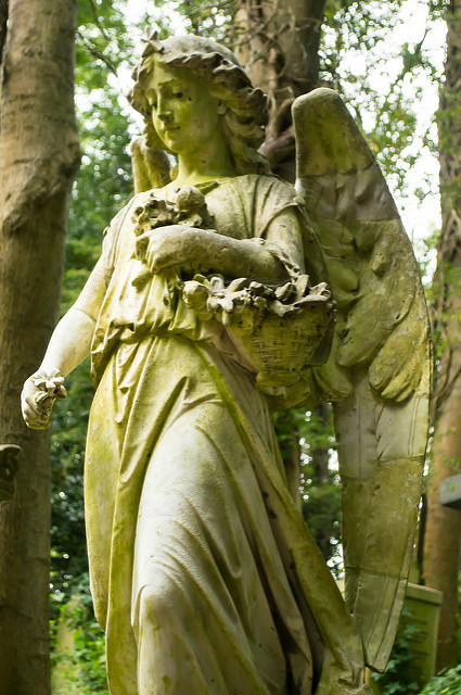 Highgate Cemetery West 6 (angel) by MrT HK