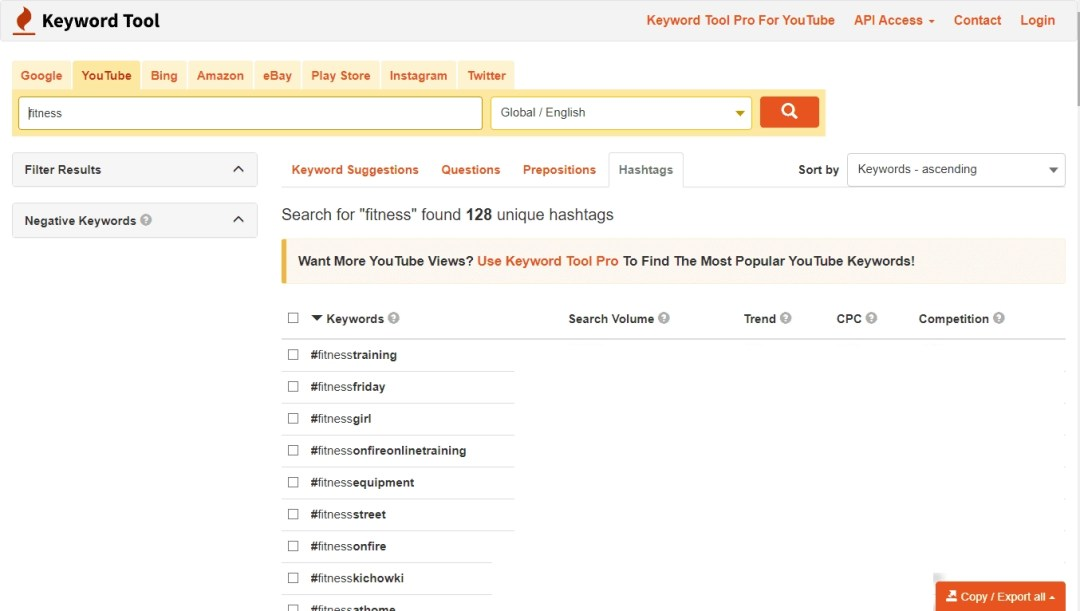 search trends fitness studio centers