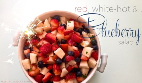 red white-hot & blueberry salad-Margaux Drake
