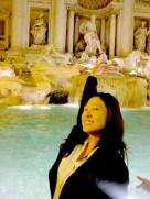 Three coins in the fountain. Trevi Fountain, Rome.