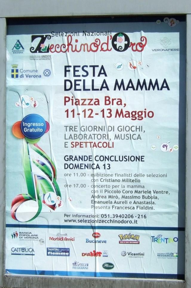 Festa Della Mamma sign in Verona