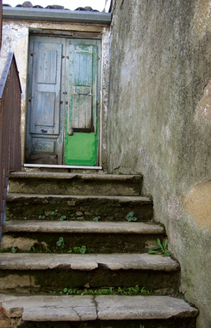 Doorway and stairs in Cesaro`, Sicily