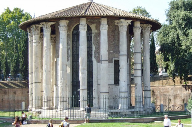 The Temple of Hercules Victor in Rome