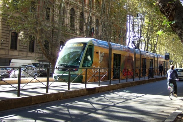 Streetcar Tram in Trastevere