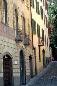 Bergamo An inclined street