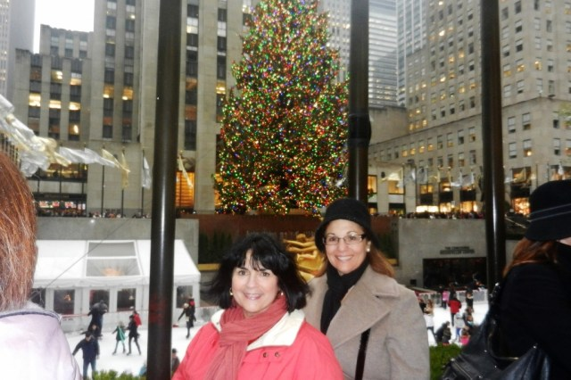 Margie and Carol at Rockefeller Center Ice Rink