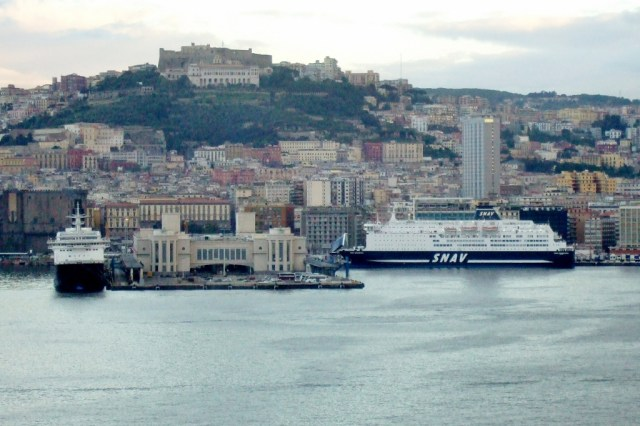 Ferry boats in Naples