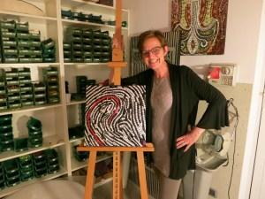 Felicia Funderburk, creator, designer,owner of Fragments Mosaic Studio
