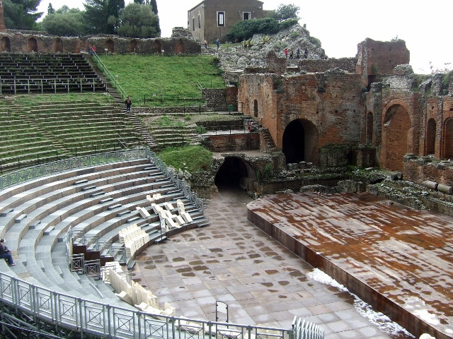 Taormina Ancient Greek Theatre Photo by Margie Miklas