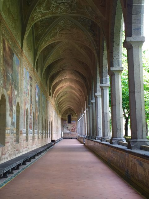 Cloister at Santa Chiara in Naples Photo by Margie Miklas