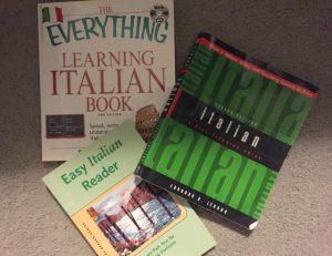 Italian language books Photo by Margie Miklas
