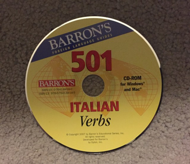 Photo by Margie Miklas Italian Verbs CD